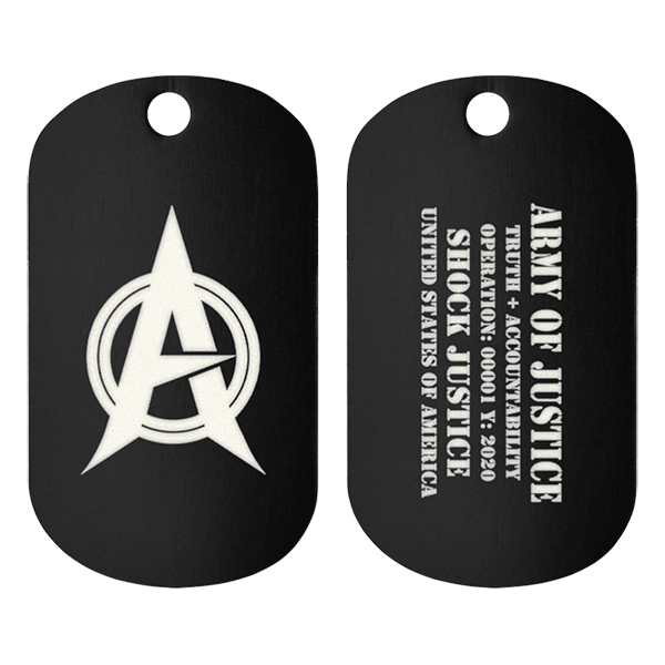 Army Of Justice Support Tag Front/Back