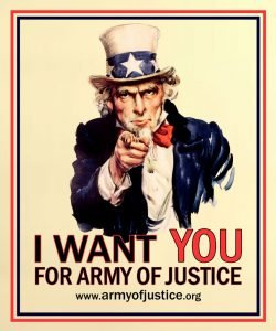 I want you for Army Of Justice